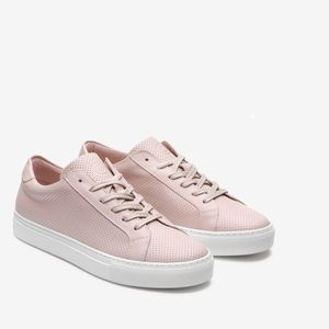The Royale Perforated Greats Blush Sneakers